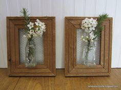 How I Made Wall Vases From Repurposed Spice Jars and Wood Frames