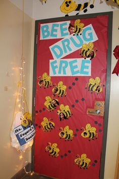 red ribbon week door decorating ideas - Google Search