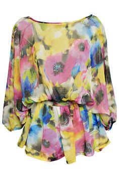 #Romwe Floral Print Blouse