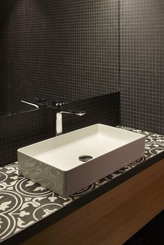 Nearly all of the bathrooms at East West Hotel in Basel are fitted with products from Laufen www.laufen.com