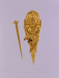 Indonesia. 8th-early 10th century. Hair Ornament with Pin | Indonesia (Java) | late Central Javanese period | The Met