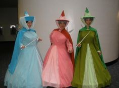 Sleeping Beauty Fairy Godmothers - for me and my sisters next halloween costumes :) Group Halloween, Holidays Halloween, Happy Halloween, Halloween Party, Halloween Costumes, Halloween Stuff, Halloween Halloween, Vintage Halloween, Halloween Makeup