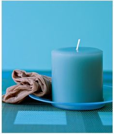 Panty Hose as Candle Duster Remove dust from candles by running it through the leg of an old pair of panty hose.