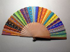 Cintas 1 Hand Held Fan, Hand Fans, Hair Rubber Bands, Fan Decoration, Vintage Fans, Fantasy Weapons, Bars For Home, Antiques, Crafts