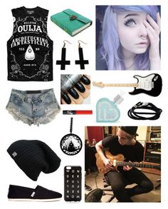 """""""Writing a song with Luke!"""" by one-direction-tumblr-girl on Polyvore featuring One Teaspoon, TOMS, Chicnova Fashion, Paul Smith, Aéropostale, NARS Cosmetics, women's clothing, women, female and woman"""
