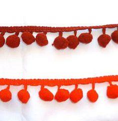 Medium Pompom Trim Metre - Reds #craft