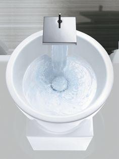 Luxury Faucet that Pours with Style #LuxuryFaucet #AxorBathroom #LuxuryBathrooms