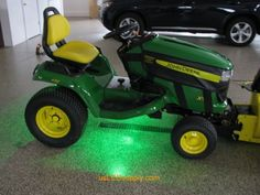 22 best led lights for garage images on pinterest led light john deere tractor with green led modules lighting up the ground aloadofball Image collections