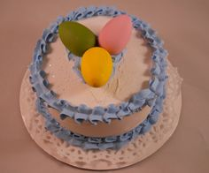 American Girl Size Blue Easter Cake by chefginas on Etsy, $19.99