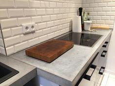 Arbeitsplatten aus Beton DIY - Bigmeatlove Home, Kitchen