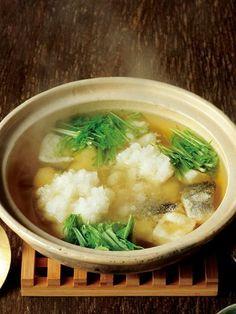 Recipe : 揚げたらのみぞれ鍋/具材のたらと餅を、揚げて使うのがポイント #レシピ #Recipe