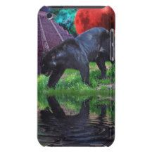 Black Jaguar Fantasy iPod Touch Case