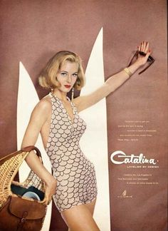 CATALINA BATHING SUIT AD - 1957 - Swimsuit Fashion 50s