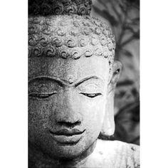 8x12 Fine Art Photograph, Stone Buddha Print, Buddha Head Photo, Still Life Photo, Black and White Photo, Zen Photo, Wall Decor, Home Decor