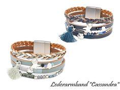 Damen Lederarmban Cassandra Bracelet Watch, Bracelets, Accessories, Fashion, Leather Cord, Blue, Women's, Moda, Fashion Styles