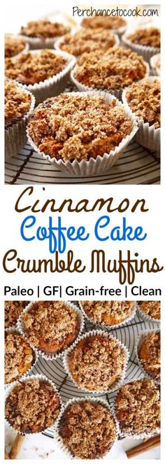 Cinnamon Coffee Cake Crumble Muffins (Paleo, GF) | Perchance to Cook, www.perchancetocook.com