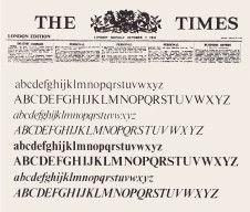Stanley Morison (typographic adviser), The London Times, 3 October 1932.