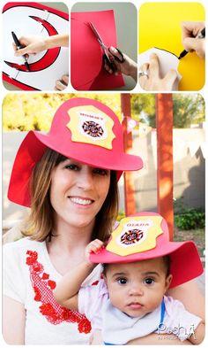 DIY Fireman Hat, DIY Fire Tr A uck Birthday Party Ideas. DIY Foam Firemen's Hat using craft foam and glue -- printable template -- so easy to make. Firefighter Birthday, Boy Birthday, Basketball Birthday, Birthday Parties, Fire Truck Craft, Birthday Banner Template, Fireman Hat, Truck Crafts, Monster Truck Birthday