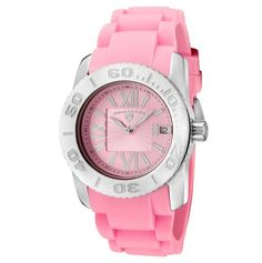 Women's Commander Pink Dial Pink Silicone Watch
