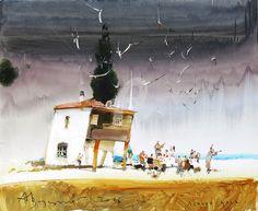 Лешина цель - Pittura,  110x90 cm ©2016 da Alexander Votsmush -