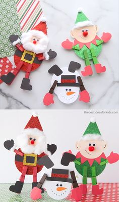 CLOTHESPIN CHRISTMAS CRAFTS - such fun and cute Christmas crafts for kids! Make a Santa, elf or snowman! Make these cute Clothespin Christmas Crafts. Choose from a Santa, elf or snowman. Free printable template included to make them. Christmas Crafts For Kids To Make, Easy Halloween Crafts, Christmas Ornament Crafts, Preschool Christmas, Noel Christmas, Simple Christmas, Handmade Christmas, Holiday Crafts, Craft Ideas