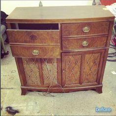 Old Stereo cabinet - before
