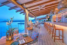 Buddha Bar moves into Santa Marina Resort on Mykonos Island, Greece Beach Club, Ornos Beach, Beach Bars, Holiday Destinations, Vacation Destinations, Dream Vacations, Mykonos Town, Mykonos Greece, Crete Greece