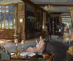 Mary Borden and her Family at Bisham Abbey, 1925, Sir John Lavery