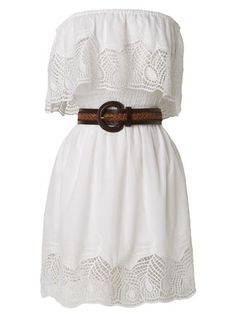 Simple white country dress... must have