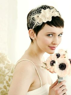 I've never been to a wedding where the bride has short hair - I love it!!!