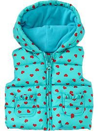 Heart-Print Frost-Free Vests for Baby