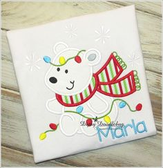 Christmas Polar Bear Shirt for Infants,Toddlers, Boys and Girls - Polar Bear Shirt- Christmas Shirt-Personalization Available