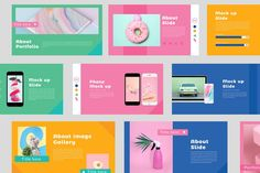 Color Fun Powerpoint #Image#Drop#modern#Clean