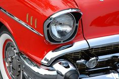 Red Car Lacquer reflects the environment, distorted based on shape of surface Chrome highly reflective