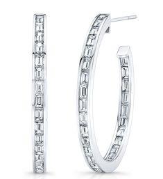 Rahaminov baguette diamond hoop earrings | JCK On Your Market