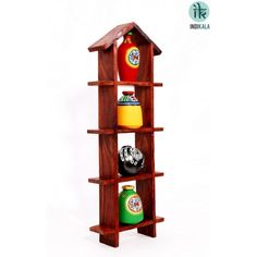Hut Shaped Frame Unit with Four Elegant Pots At www.indikala.com