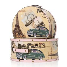 Smykke og sminkeskrin i retrodesign fra Shelas - 2 skrin i tøft Parisdesign