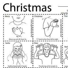 asl sign language christmas flash cards and dice game for school day care family and more signbabysignorg