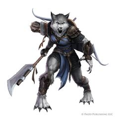 Pathfinder: Silverblood werewolf by WillOBrien