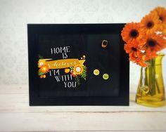 Framed Magnetic Chalkboard - Whimsical Kitchen Decor - Inspirational Wall Art - Chalk Board Art - Message Board