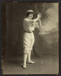 Female Baseball Player, 1913. Library of Congress Prints and Photographs Division.