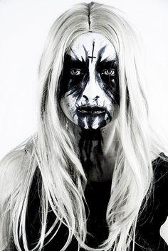 Corpse paint/black metal babe