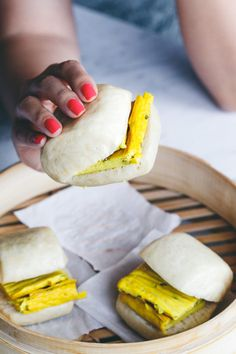 #Vegan Mantou #Taiwanese Steamed Buns with Scallion Omelette | Vegan Miam