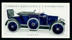 Cigarette Card - Singer Motor Car 1922