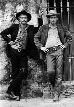 Robert Redford & Paul Newman in Butch Cassidy and the Sundance Kid, - the first Paul Newman film that I ever saw. My Grandma then told me about meeting Paul Newman on a beach in America, and how lovely he was, and I have adored him ever since. Sundance Kid, Classic Hollywood, Old Hollywood, Hollywood Glamour, I Movie, Movie Stars, Buddy Movie, Paul Newman Robert Redford, A Well Traveled Woman