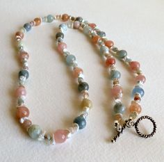 Beautiful Morganite Necklace with Freshwater by Smokeylady54