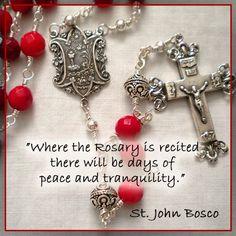 St. John Bosco Praying The Rosary, Holy Rosary, Catholic Prayers, Catholic Saints, Dear Lord, Mother Mary, Close To My Heart, Beauty Routines, Rosaries