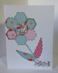Card designed by Julie Hickey using Craftwork Cards Paper Artistry kit. Kitsch double sided papers, Kitsch die cuts and double sided Candi.