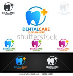 Dental Logo Tooth Abstract Design Vector Template Dentist