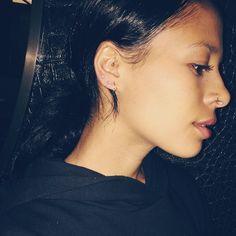 Sami Miro giving seriously cute earring game <3 Piercing, anyone?